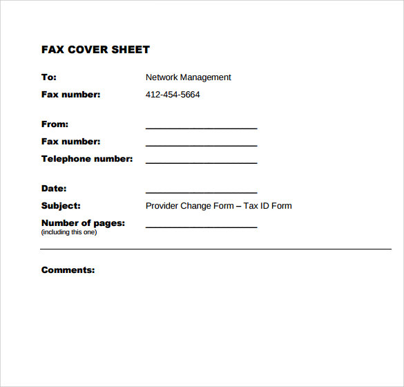 Sample Office Fax Cover Sheet - 8+ Documents In Pdf, Word