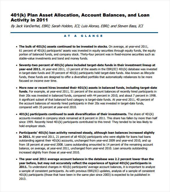 simple 401k calculator template free pdf