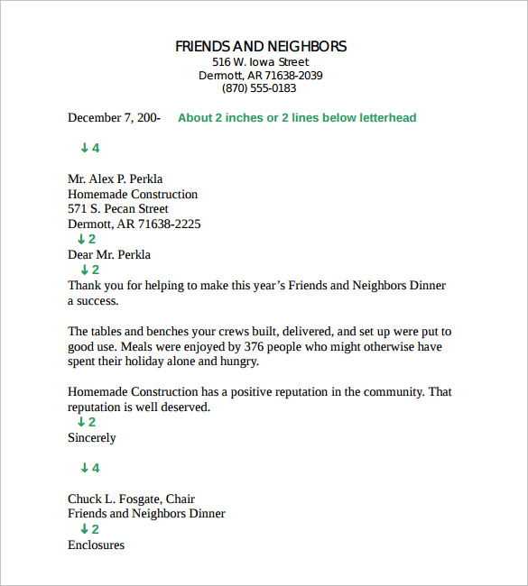 Business Letter Template    Free Documents To Download In Pdf