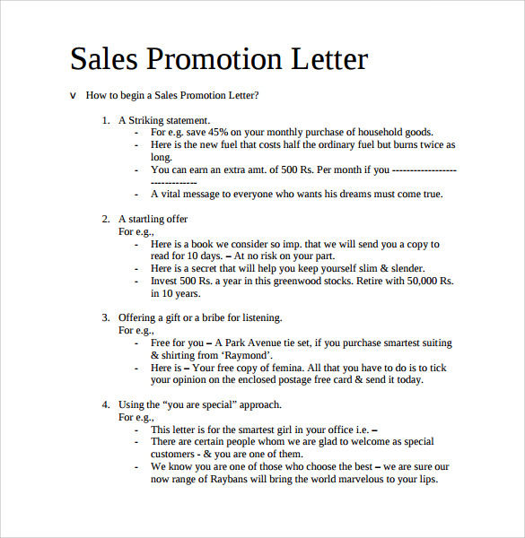 Sample Promotion Letter 15 Free Samples Examples Format