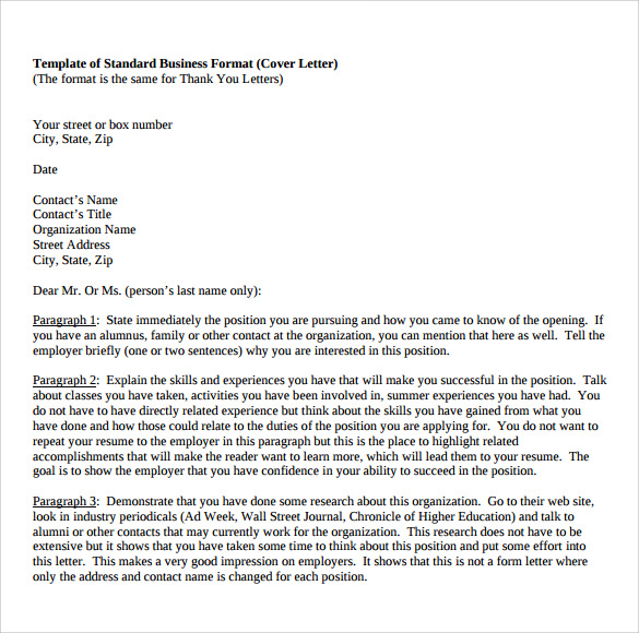 12 business letter templates free samples examples format template of standard business format wajeb