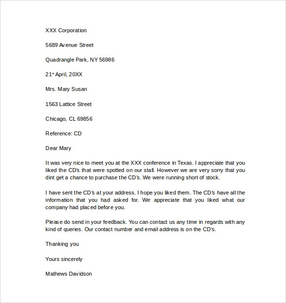 Free Download Business Letter Template
