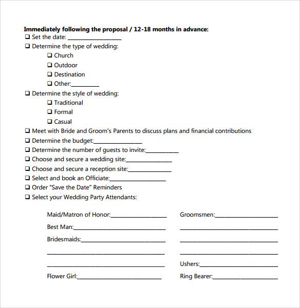 Sample Bridal Shower Checklist 8 Documents in PDF