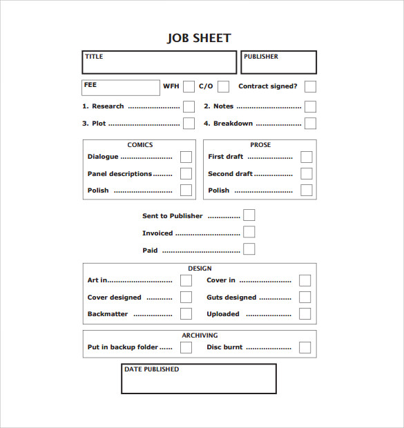 printable job sheet template1
