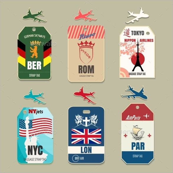 sample luggage tag template