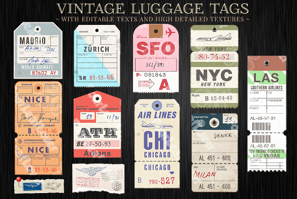 airline luggage tag template - 16 sample luggage tags sample templates