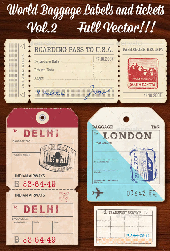 downloadable luggage tag template