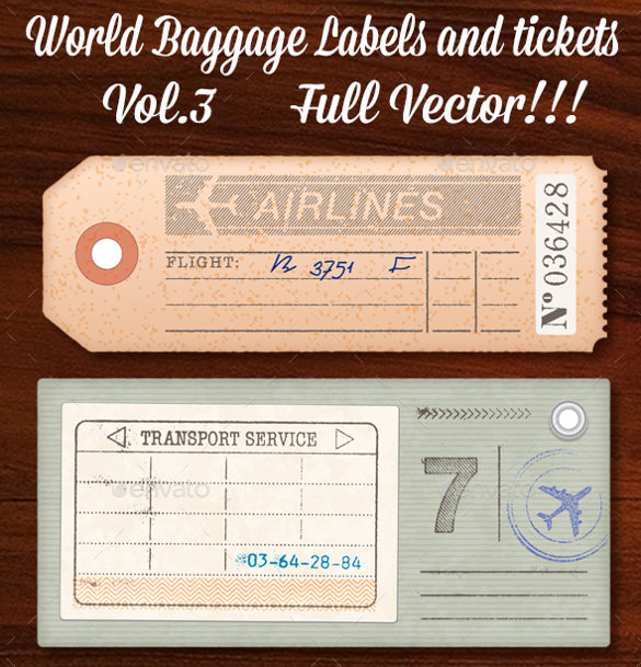 Sample Luggage Tag   Documents In Pdf Word