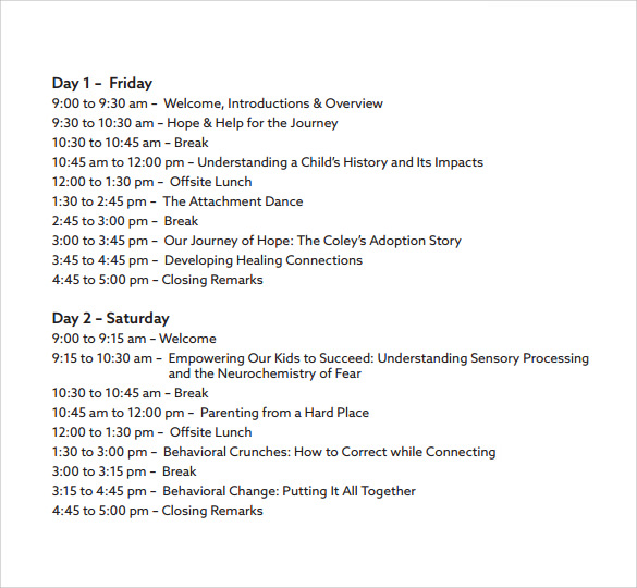 etc conference schedule