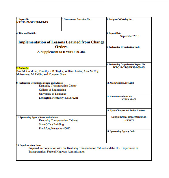 Sample Change Order Template - 12+ Free Documents In Pdf, Word
