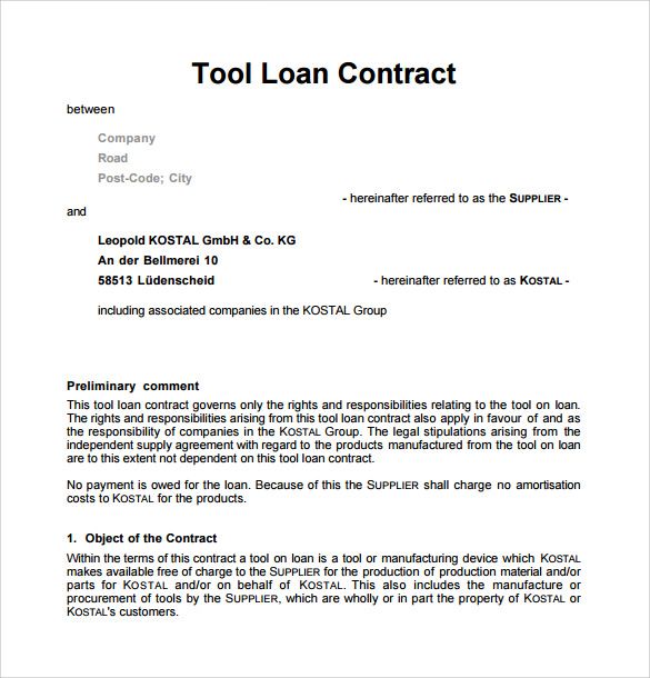 Microsoft Word Contract Template  Sample Contract Templates In