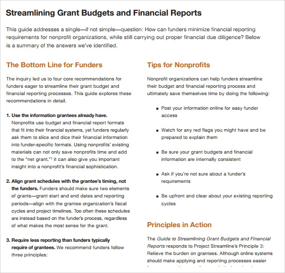 grant budgets and financial reports%ef%bb%bf