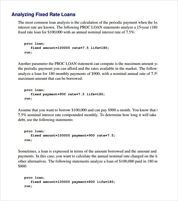 Sample Balloon Loan Calculator - 9+ Documents In Pdf