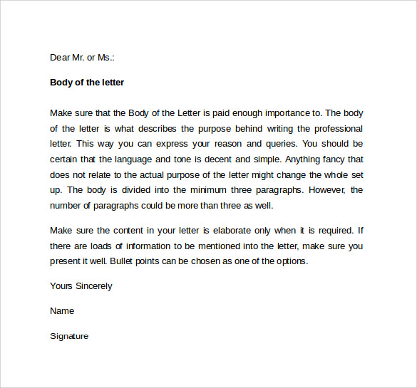 resignation letter sample it professional free cover letter - Professional Cover Letter Template