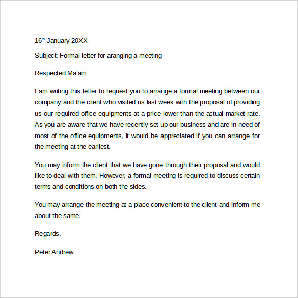 Simple Formal Letter Format  BesikEightyCo