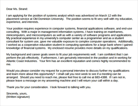sample professional cover letter template 10 download free documents