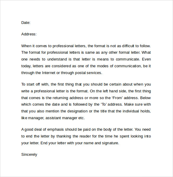 writing a professional cover letter format Sample request letters business letter format  write persuasive request letters: business letter  of your feelings through writing a professional letter.