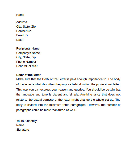 sample professional cover letter template1