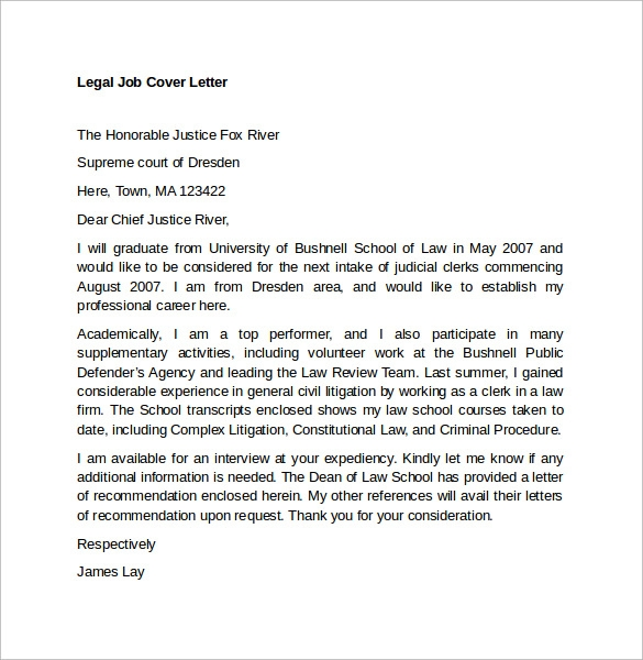 Legal Secretary Cover Letter Examples Legal Cover Letter Samples