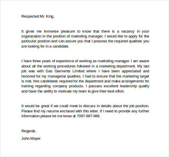 Marketing Manager Cover Letter. Best Product Manager Cover Letter