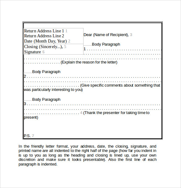 friendly letter formate friendly letter 11 samples examples amp formats 6393