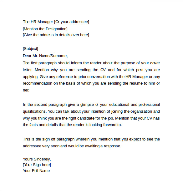 resume cover letter format - What Does A Resume Cover Letter Look Like