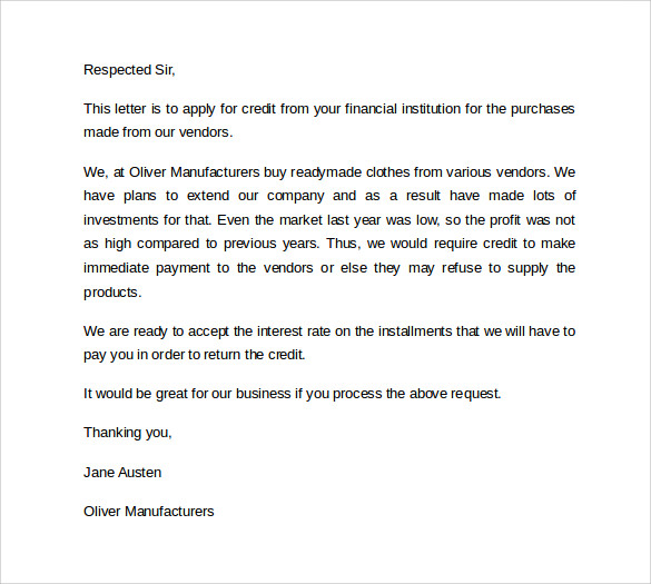 Superb Letter Of Credit Example