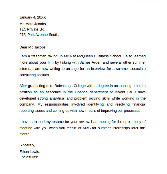 consulting internship cover letter - How To Write A Internship Cover Letter