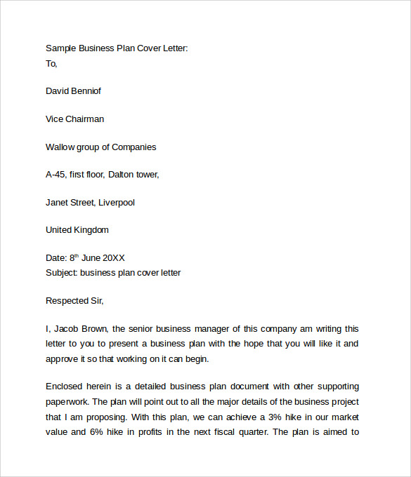 9 Business Cover Letters U2013 Samples , Examples U0026 Formats