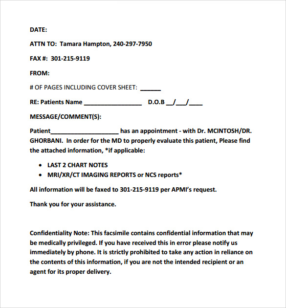 example of chase fax cover sheet - Examples Of Fax Cover Letters