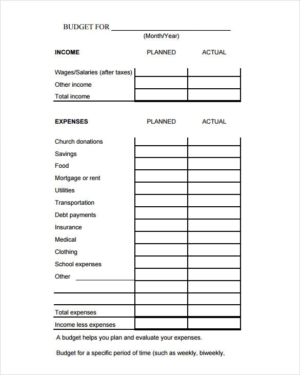 Sample Budget Calculator   Documents In Pdf