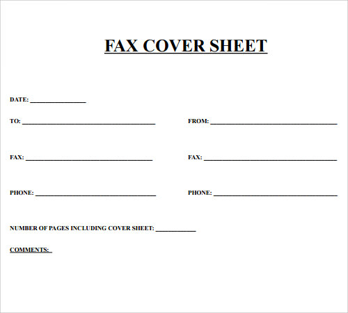 fax cover sheet 27 download free documents in pdf word sample