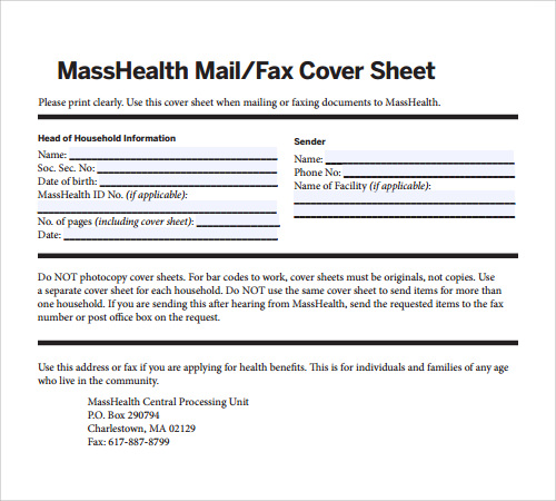 cover letter for faxing documents