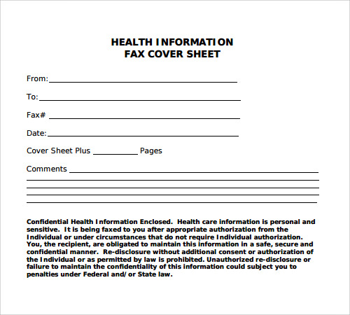 basic fax cover sheet template .