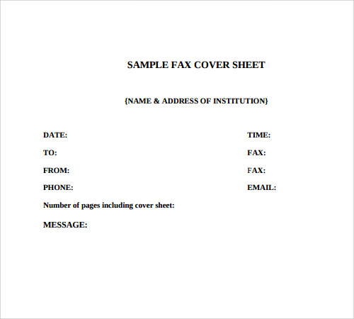 fax cover sheet 27 download free documents in pdf