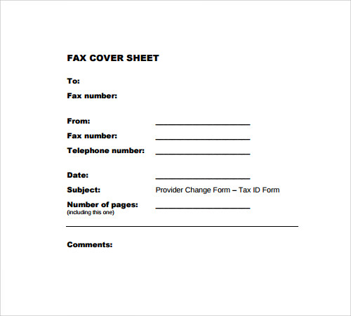 Fax Cover Sheet - 27+ Download Free Documents In PDF , Word | Sample ...