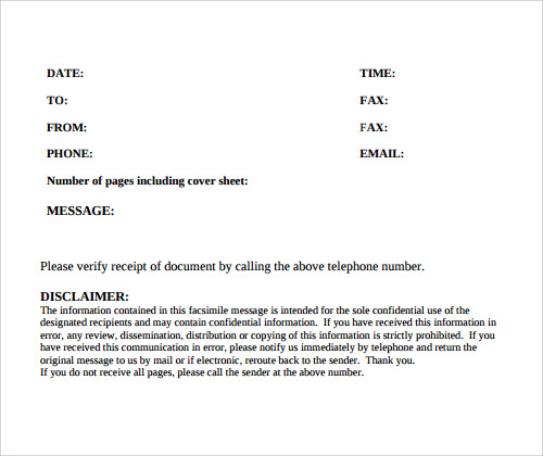 modern fax cover sheet - Teacheng.us