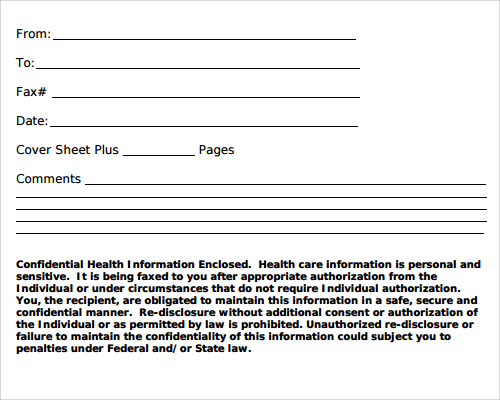 personal fax cover sheet template .