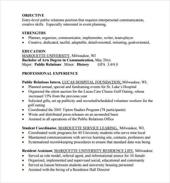 sample entry level resume 8 documents in pdf word - Objectives For Entry Level Resumes