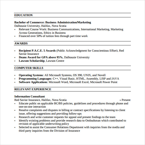 Simple Customer Service Resume  Sample Customer Service Resume