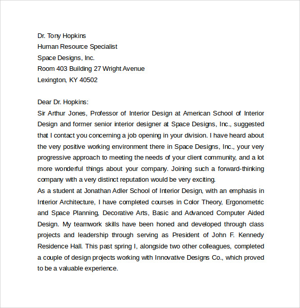 Interior Design online document writer