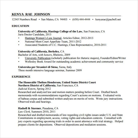 Sample Paralegal Resume   Download Free Documents In Pdf Word