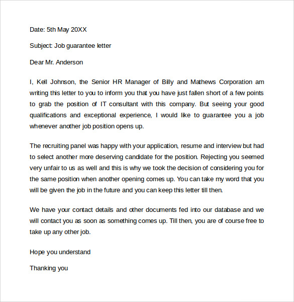Cover Letter For Job Application Free Download
