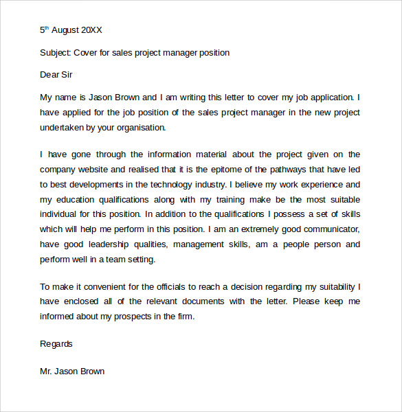 Basic Job Application Cover Letter  Job Application Cover Letters