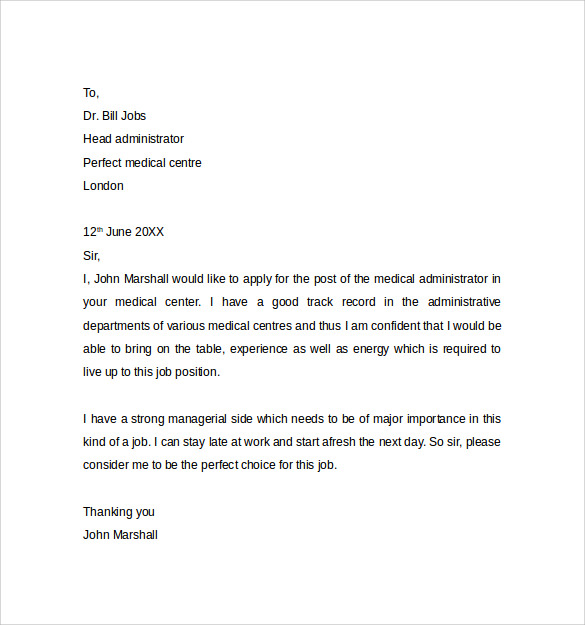 Administrative Assistant Cover Letter Template 9 Free