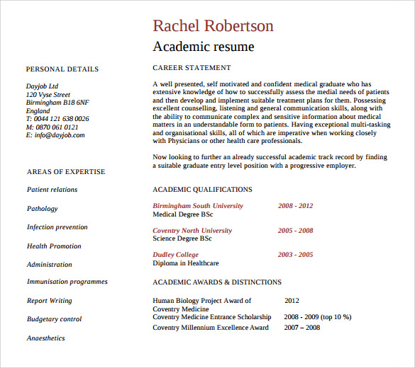 9 academic resume templates to download