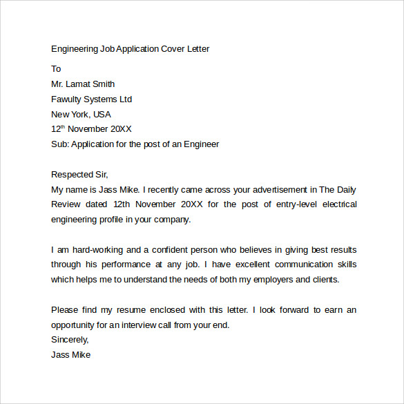 Cover Letter Example Of A Work Resume Template Awesome Sample – Speculative Application Cover Letter