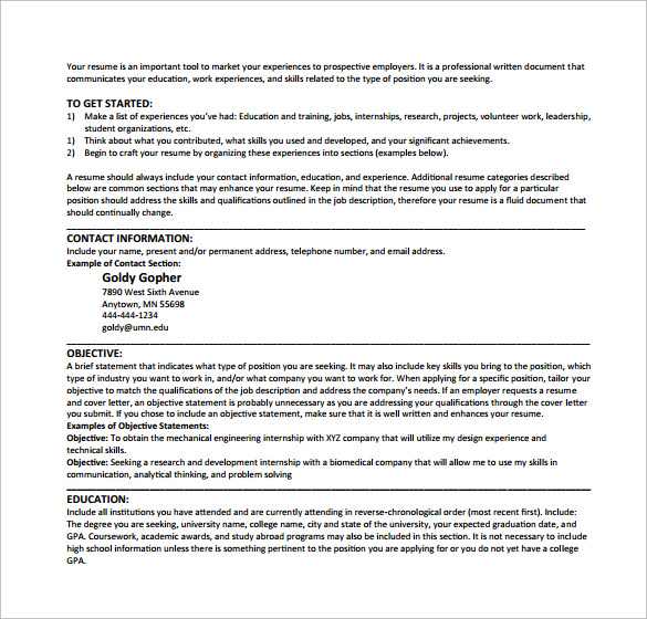Computer Science Resume 11 Download Free Documents In