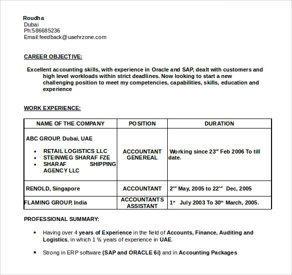 Chartered accountant india resume | Business man resume