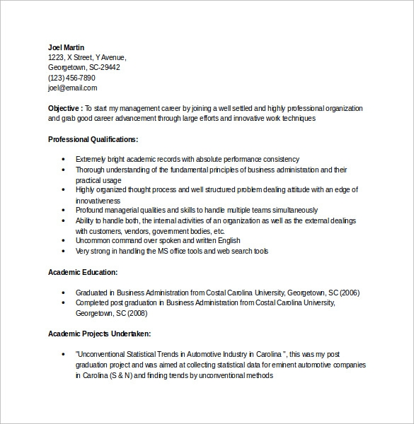 sample accountant resume